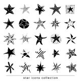 Star Doodles, hand drawn vector illustration. Stock Images