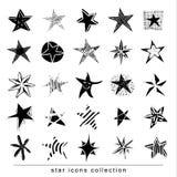 Star Doodles, hand drawn vector illustration. Black stock illustration