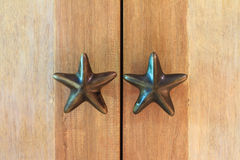 Star door handle Stock Image