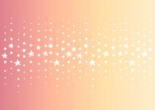 Star dot line center abstract orange background Royalty Free Stock Photography