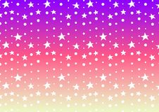 Star and dot line purple pink abstract background Royalty Free Stock Image