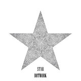 Star dotwork. Hipster style. Vector Illustration. Star dotwork. Hipster style. Design element. Vector Illustration Stock Photography