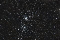 Star double cluster Royalty Free Stock Images