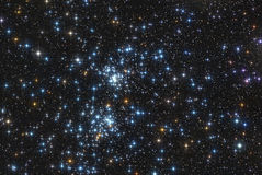Star double cluster. The famous stars double cluster in the constellation of perseus stock photo