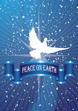 Star dove. Dove of peace on star background Royalty Free Stock Photography