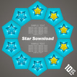 Star Download Royalty Free Stock Photo
