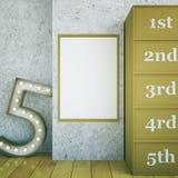 Star dressing room blank frame Stock Image