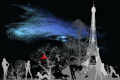 Star dust city 3_Paris Royalty Free Stock Images