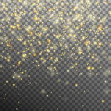 Star dust sparks in explosion. EPS 10 vector. Gold glitter effect on transparent background. Star dust sparks in explosion like fireworks. And also includes EPS Royalty Free Stock Photography
