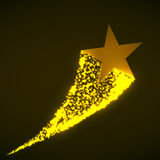 Star with dust. Tail. Vector illustration. Eps 10 Royalty Free Stock Photos