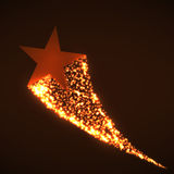 Star with dust. Tail. Vector illustration. Eps 10 Royalty Free Stock Image