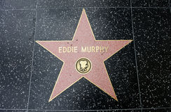 The star of Eddie Murphy. On the walk of fame on Hollywood blvd, Los Angeles, California Stock Images