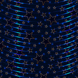 Star effect seamless pattern. Illustration blue star effect seamless pattern, vertical style light line wave effect when repeat the seamless pattern Stock Photos