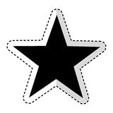 Star emblem isolated icon Royalty Free Stock Photography