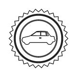 star emblem side car icon Royalty Free Stock Photo