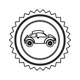 star emblem sport car side icon Royalty Free Stock Photography