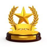 Star emblem trophy Stock Photography