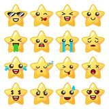 Star emoji. Cute emoticons. Vector illustration Stock Photo