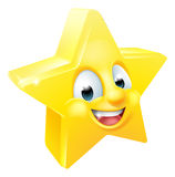 Star Emoji Emoticon Mascot Stock Photography