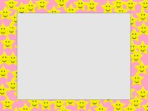 Star emotion Photo Frame. Photo Frame with  Star emoticons Royalty Free Stock Images