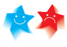 Star emotion smileys - vector Royalty Free Stock Photo