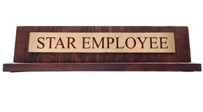 Star Employee name plate Stock Images
