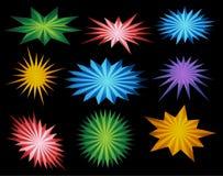 Star energy set Royalty Free Stock Image