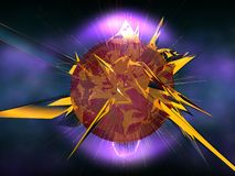 Star explosion. Illustration of a exploding star or planet in deep space Royalty Free Stock Photo