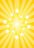 Star explosion. Yellow star burst explosion. Vector image Royalty Free Stock Photography
