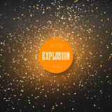 Star Explosion Effect. Nebula on Outer Space  Royalty Free Stock Photography