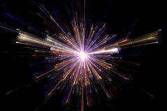 Star explosion with particles explosion, light, burst Royalty Free Stock Image