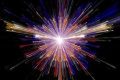 Star explosion with particles. Illustration Royalty Free Stock Photography