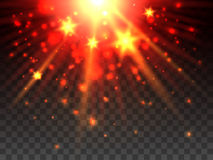 Star explosion on transparent background. Star explosion yellow and orange on transparent background. Vector illustration Stock Photo