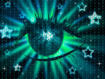Star Eye Shows Starred Stars And Background Royalty Free Stock Photos