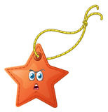 A star with a face Royalty Free Stock Images