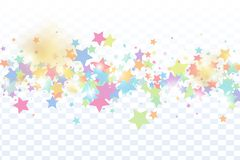 Star falling confetti background. royalty free stock photography