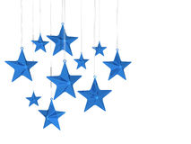 Star fat blue hanging Stock Images