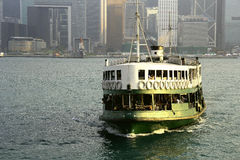 Star Ferry boats crossing Victoria Harbour Stock Photo