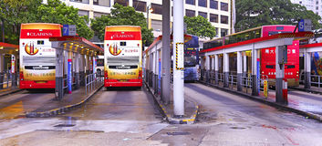 Star ferry bus terminus, tsim sha tsui, hong kong Royalty Free Stock Photography