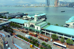 Star Ferry Central Pier, Hong Kong Island Royalty Free Stock Photos