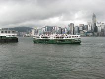 The Star ferry cruise boat in Hong Kong harbour royalty free stock image