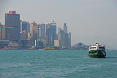 A Star ferry leaving Hong Kong Island Stock Photography