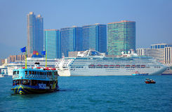 Star ferry and luxury cruises in hong kong Stock Photography