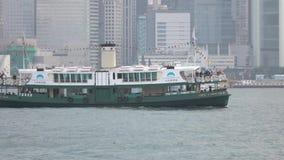Star Ferry at Ocean Terminal pier Tsim Sha Tsui. 4K Video stock video footage
