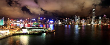Star Ferry Pier. Of Victoria Harbour at Kowloon side of Hong Kong Stock Image