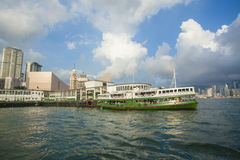 Star Ferry Pier in Hong Kong Royalty Free Stock Image