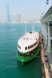 Star Ferry, public transportation, on the central pier in Hong K Stock Photography