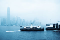 Star ferry at victoria harbor Royalty Free Stock Photos