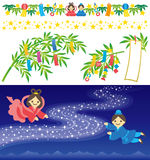 The Star Festival. Tanabata- Festival : the Star Festival Stock Photos