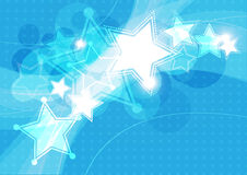 Star festival background. Blue star festival background design Royalty Free Stock Photo